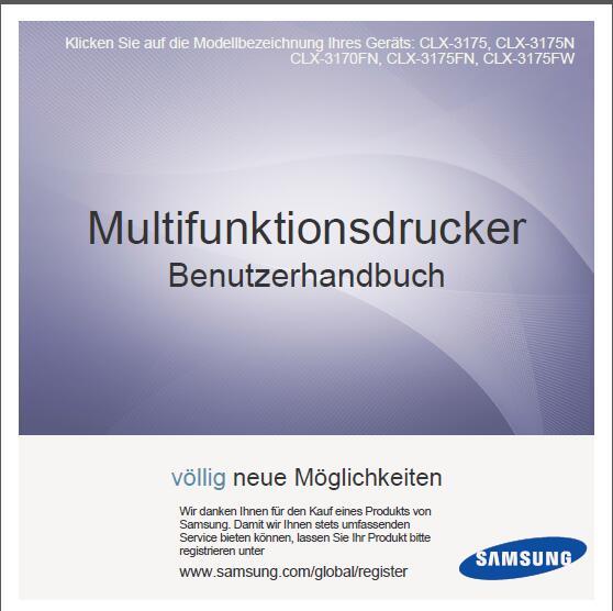 Samsung CLX-3175FN/XET Bedienungsanleitung