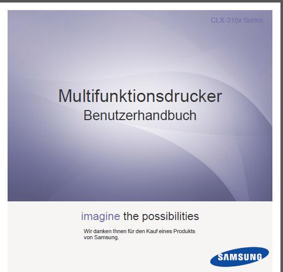 Samsung CLX-3185 Bedienungsanleitung