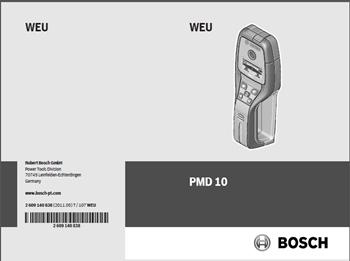 Bosch PMD 10 Bedienungsanleitung