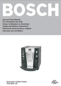 Bosch TCA 6001 Bedienungsanleitung