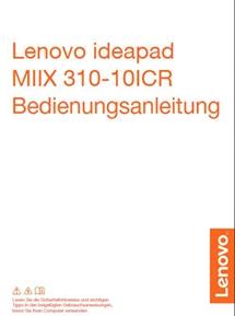 Lenovo IdeaPad Miix 310 Bedienungsanleitung